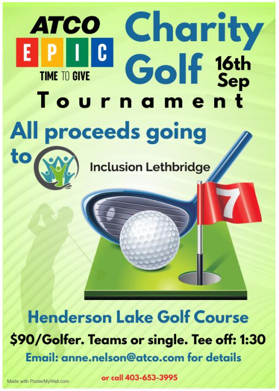 ATCO EPIC Golf Tournament Poster